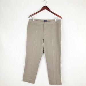 NYDJ taupe stretch crop pants
